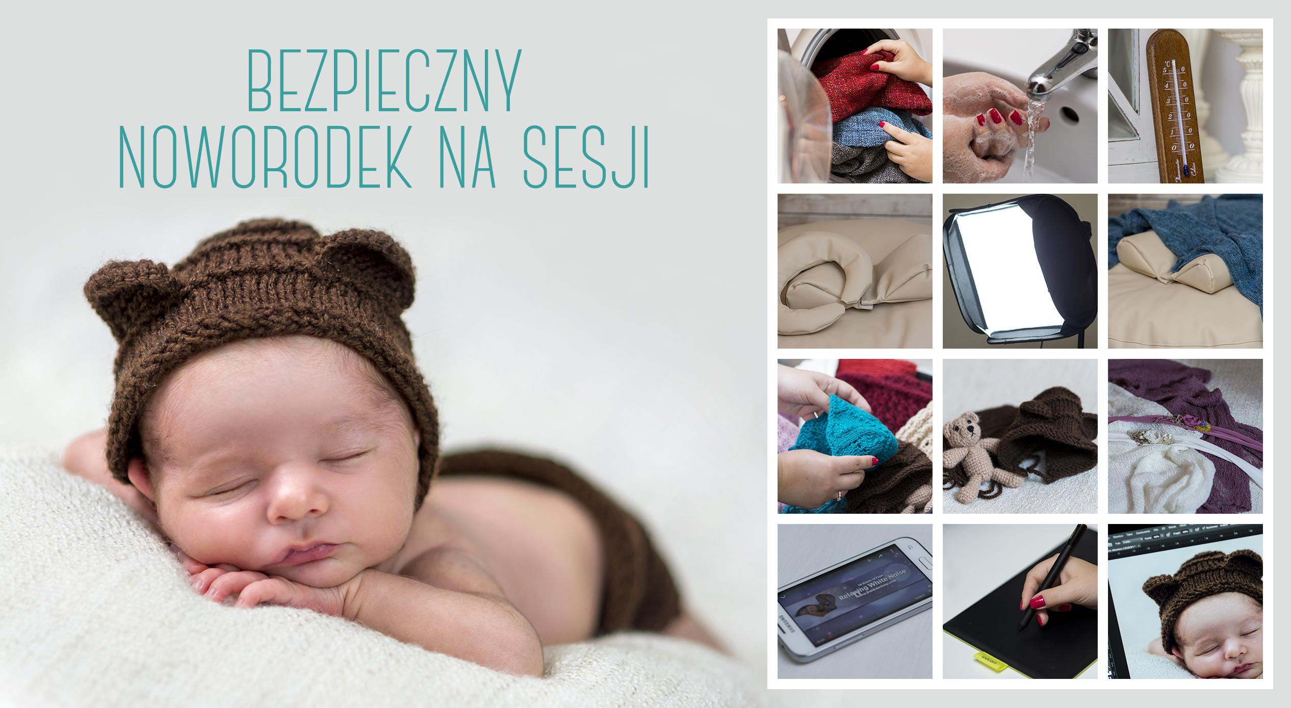 bezpieczny noworodek na sesji